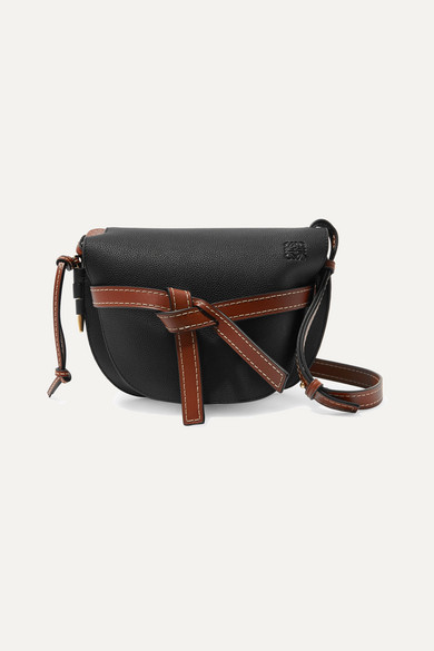 8688281cc0da Loewe | Gate small textured-leather shoulder bag | NET-A-PORTER.COM