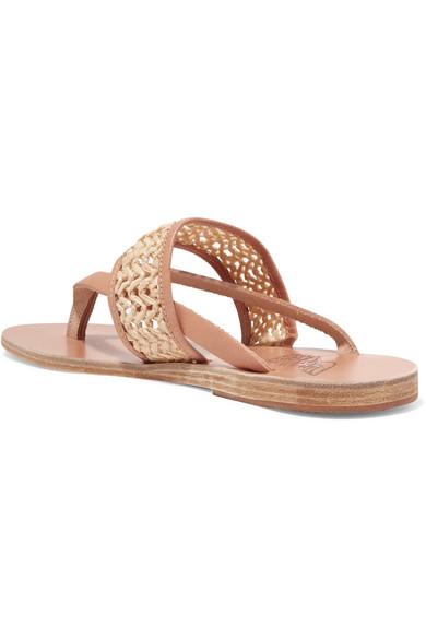 Zenobia Sandalen Aus Geflochtenem Raffiabast Und Leder - Schwarz Ancient Greek Sandals 0KvXehLO