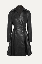 Alaïa Double-breasted leather coat