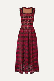 Jacquard-knit gown
