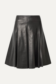 Alaïa Pleated leather skirt