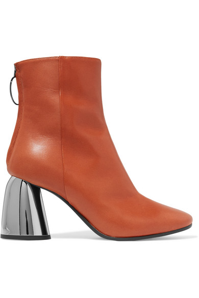 ELLERY Leather Ankle Boots in Brown