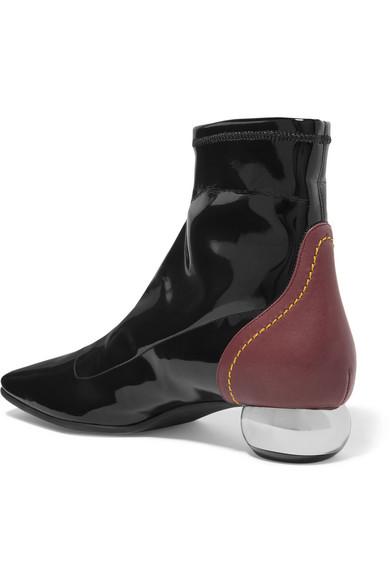 Ellery Boots | Ankle Boots Ellery aus glattem und Lackleder 12c36f
