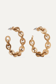Saint Laurent Gold-tone hoop earrings