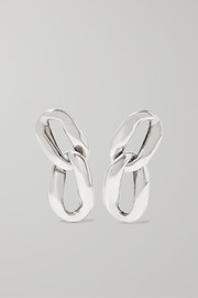 Saint Laurent Silver-tone clip earrings
