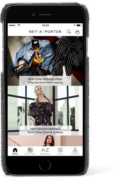 best service 6f195 c22fc SAINT LAURENT | Croc-effect leather iPhone 8 case | NET-A-PORTER.COM