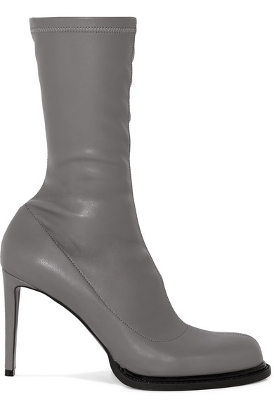 Stella Mccartney Boots Faux stretch-leather sock boots