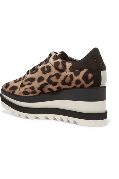 298d5ac812 Stella McCartney. Elyse faux leather-trimmed leopard-print satin platform  brogues. €342. Zoom In
