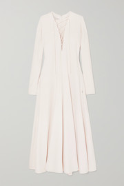 Stella McCartney Lace-up cady maxi dress