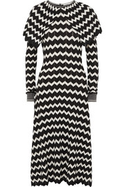 Stella McCartney Cape-effect intarsia wool midi dress