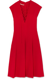Stella McCartney Lace-up stretch-cady dress