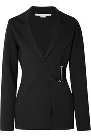 Stella McCartney Belted stretch-ponte blazer