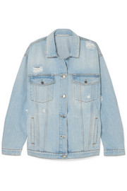 Stella McCartney Oversized distressed denim jacket
