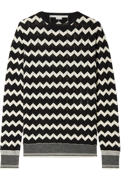 Stella Mccartney Knits Intarsia wool sweater
