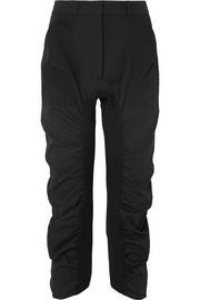 Stella McCartney Tina ruched wool-twill track pants