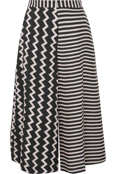 Printed Silk-moire Culottes - Black Stella McCartney Sale With Credit Card 7J4Ev7U