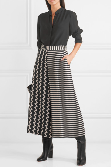 Stella Mccartney Pants Printed silk-moire culottes