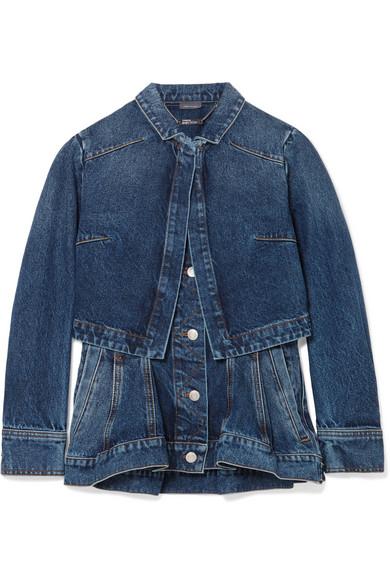 Alexander Mcqueen Jackets Layered denim peplum jacket
