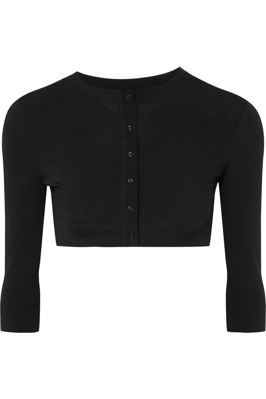 Alaïa Cropped wool-blend cardigan