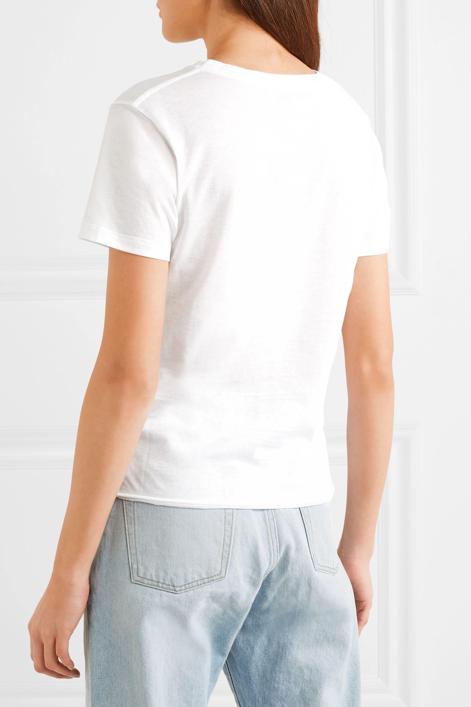 SAINT LAURENT Appliquéd cotton-jersey T-shirt