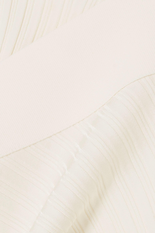Esteban Cortázar Open-back ribbed-knit top