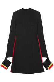Ellery Dada cutout striped ribbed jersey mini dress