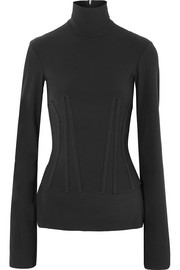 Ellery Art Brut stretch-crepe turtleneck top