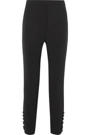 Ellery Santiago cropped button-detailed crepe slim-leg pants