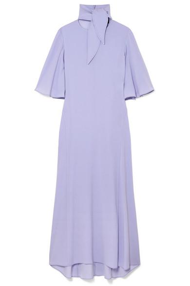 Marrakesh Crepe De Chine Midi Dress - Lilac Ellery cl2IUk