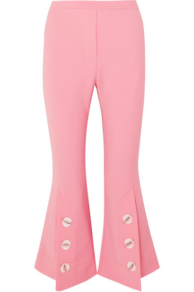 Fourth Element Cropped Kick-Flare Trousers in Pink