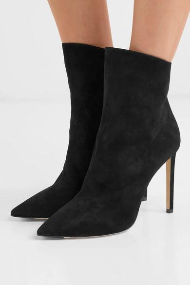 Jimmy Choo Ankle | Helaine 100 Ankle Choo Boots aus Veloursleder e53f5a