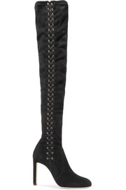 Jimmy Choo Marie lace-up suede over-the-knee boots