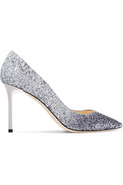 Jimmy Choo Romy 85mm dégradé glittered leather pumps