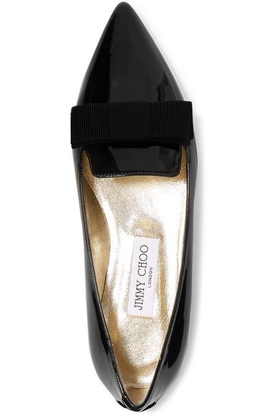 bouts verni Chaussures cuir et Gala grain Choo gros en pointus à Jimmy plates en 84wIa5n0xq