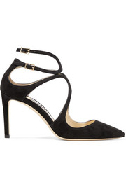 Jimmy Choo Lancer 85 Pumps aus Veloursleder