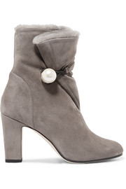 Jimmy Choo Bethanie 85 shearling-lined suede ankle boots