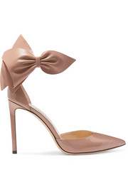 Jimmy Choo Kelley 100 Pumps aus Lackleder mit Schleife