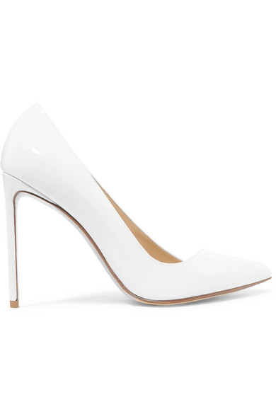 FRANCESCO RUSSO PATENT-LEATHER PUMPS