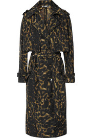 Stella McCartney Leopard-print nylon trench coat