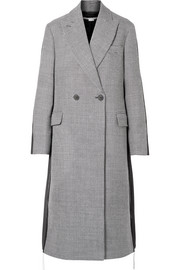 Stella McCartney Paneled wool-tweed and twill coat
