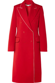 Stella McCartney Silk-trimmed wool-twill coat