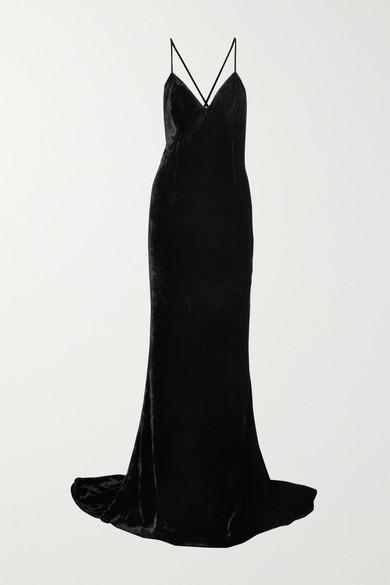 Paulina velvet gown