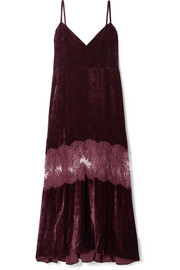 Stella McCartney Kelsey lace-paneled velvet dress