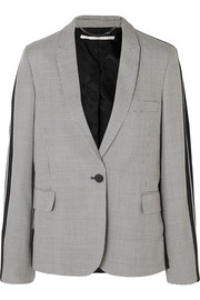 Stella McCartney Houndstooth wool-tweed and silk-twill blazer