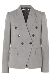 Stella McCartney Double-breasted wool-tweed blazer
