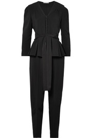 Stella McCartney Stretch-cady peplum jumpsuit