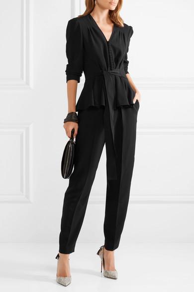Stella Mccartney Suits Stretch-cady peplum jumpsuit