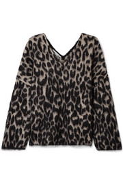 Stella McCartney Leopard-print cotton-blend sweater