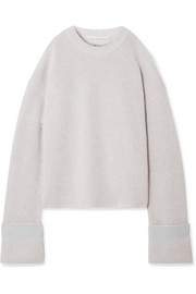 Stella McCartney Cold-shoulder ribbed wool sweater