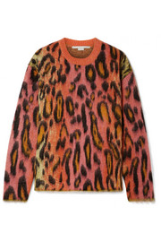 Stella McCartney Brushed mohair-blend jacquard sweater